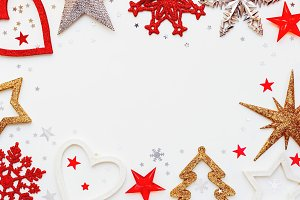 Christmas and New Year background wi