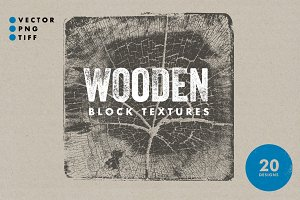 Wooden Block Textures - 20 Designs