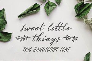 Sweet Little Things Script Font TRIO