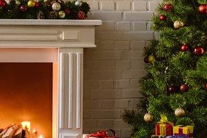 christmas tree with festive decorati