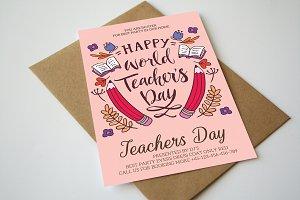 World Teachers Day Flyer Template