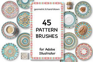 45 Vector Pattern Brushes