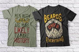 Beards t-shirts set