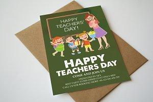 Happy Teachers Day Flyer Template