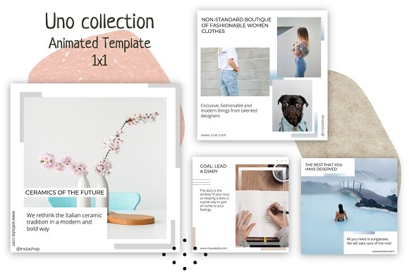 Uno Collection Animated Template 1x1 Social Media Templates