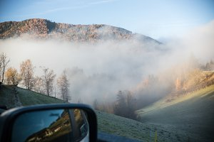 Travel by car in the mountains