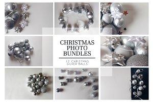Silver Christmas Balls Bundle