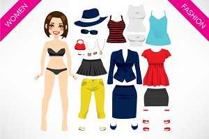 Cute Paper Doll Girl