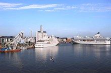 Ferry in Stockholm port. Sweden