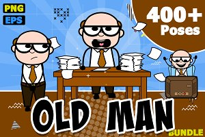 Old Man ~ Cartoon Character Set