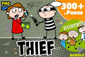 Thief ~ Cartoon Character Set