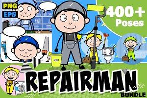 Repairman ~ Cartoon Character Set