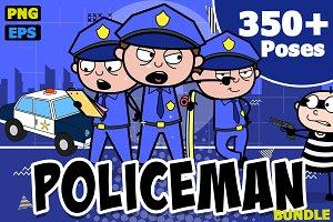 Policeman ~ Cartoon Character Set