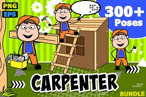 Carpenter ~ Cartoon Character Set