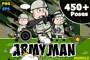 Army Man ~ Cartoon Character Set