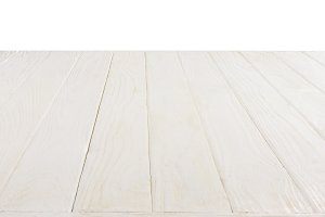 surface of white wooden planks isola