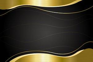 Gold metal banner background