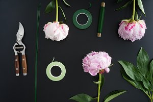 Florist workplace and accessories