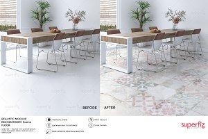 Floor Mockup Dining Room Scene SM23