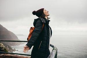 Woman enjoying the climate