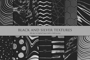Black and Silver Textures