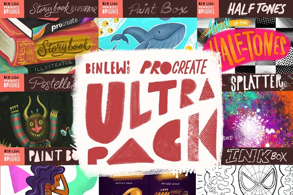 Add-Ons: Ben Lew Illustration - Ben Lew's Procreate Ultrapack