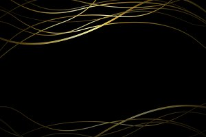 Abstract gold line banner