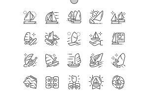 Sailing Line Icons