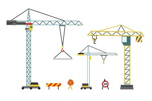 Construction crane. Building