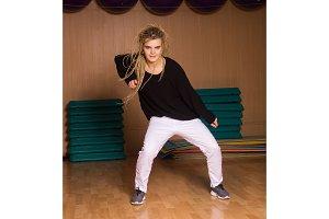 dancer shows hip-hop