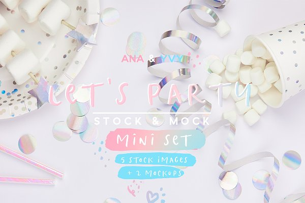 Product Mockups: ana & yvy - Let's party! Stock & Mock mini set