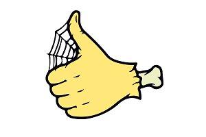 Cartoon Zombie Hand thumb Vector