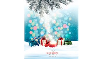 Christmas holiday background. Vector
