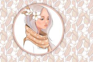 Beautiful girl in scarf