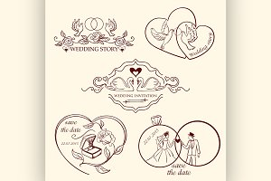 decorative wedding logo