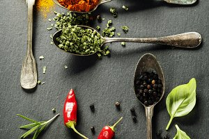 Herbs and spices selection