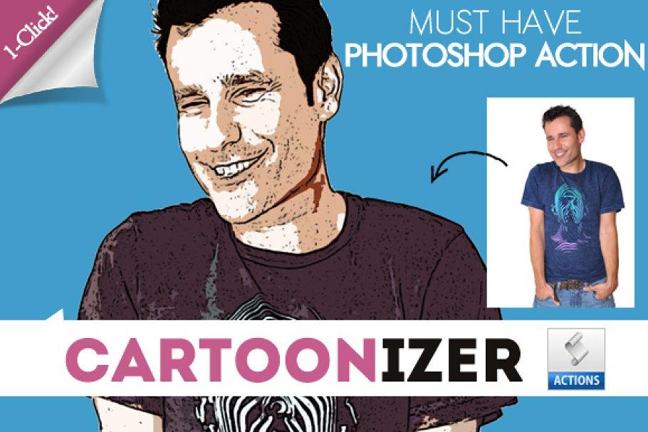 Comic Cartoon Photoshop Action Unique Photoshop Add Ons Creative Market