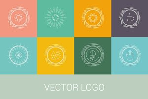 Vector line logos and icons.