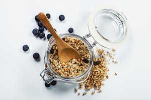 Healthy breakfast - muesli and berri