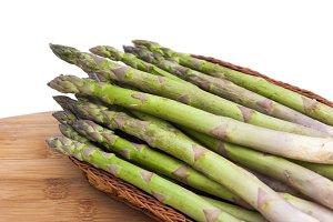 Raw asparagus