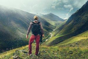 Hiking Adventure Blogger Travel Conc