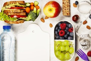 Health & Fitness Food in lunch boxes