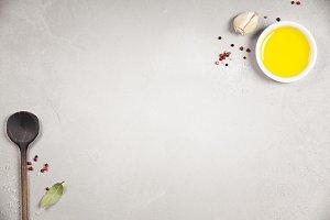 Olive oil, balsamic vinegar, pepper