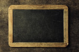 Blank chalkboard for your text. Top