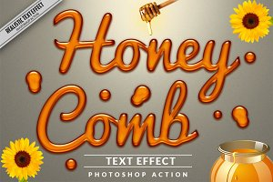 Honey Text Effect Photoshop Action
