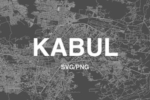 Afghanistan - Kabul SVG/PNG Map
