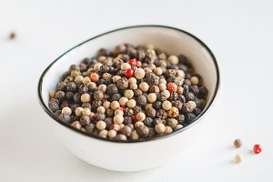 Various kinds of pepper seeds