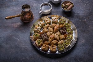 Traditional eastern sweets - baklava