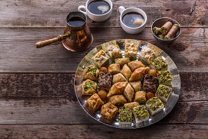 Middle Eastern dessert sweets for