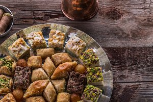 Arabian sweets and delights with
